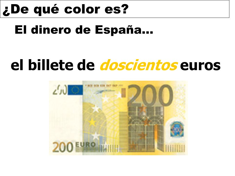 el billete de doscientos euros