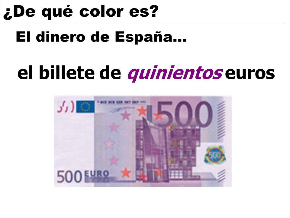 el billete de quinientos euros