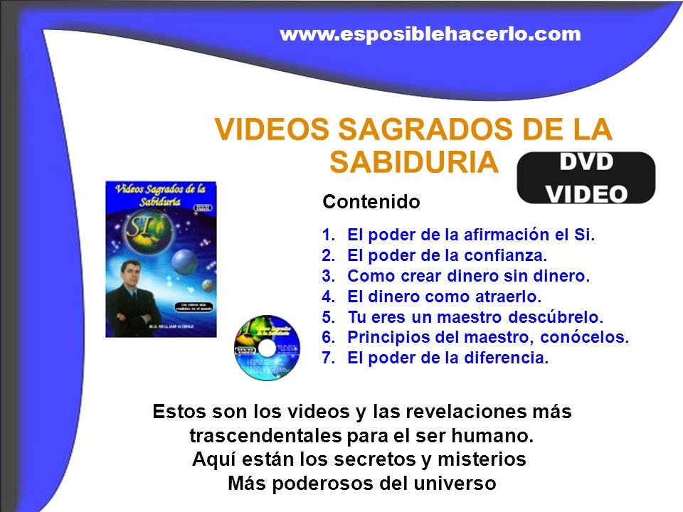 VIDEOS SAGRADOS DE LA SABIDURIA