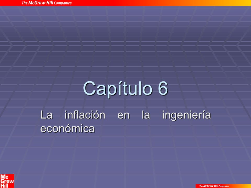 La inflación en la ingeniería económica