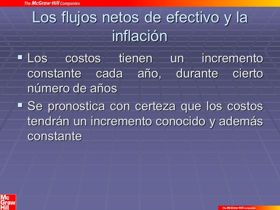 Los flujos netos de efectivo y la inflación