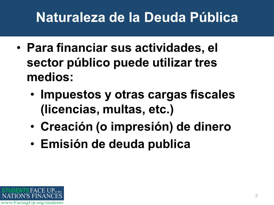 Naturaleza de la Deuda Pública