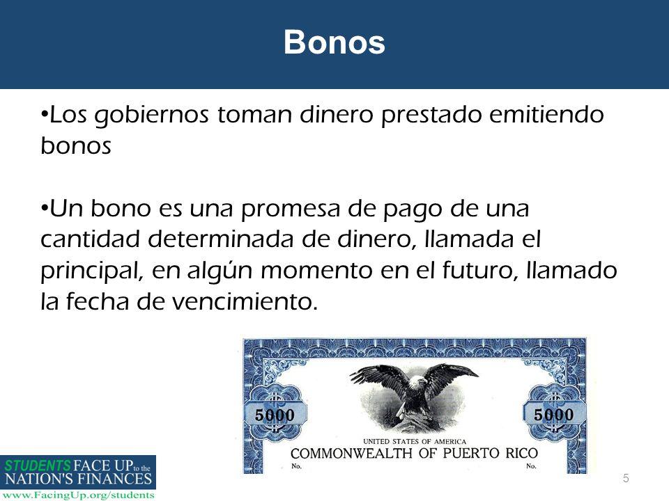 Bonos Los gobiernos toman dinero prestado emitiendo bonos