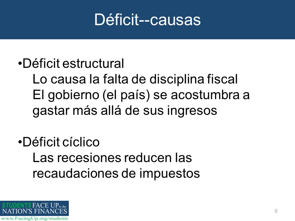 Déficit--causas Déficit estructural