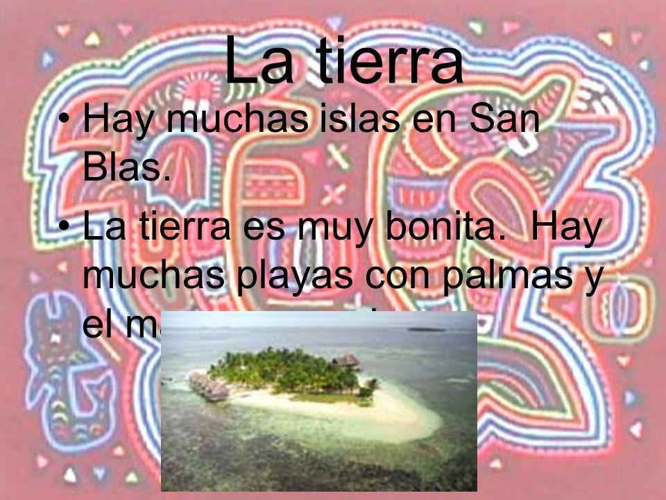 La tierra Hay muchas islas en San Blas.