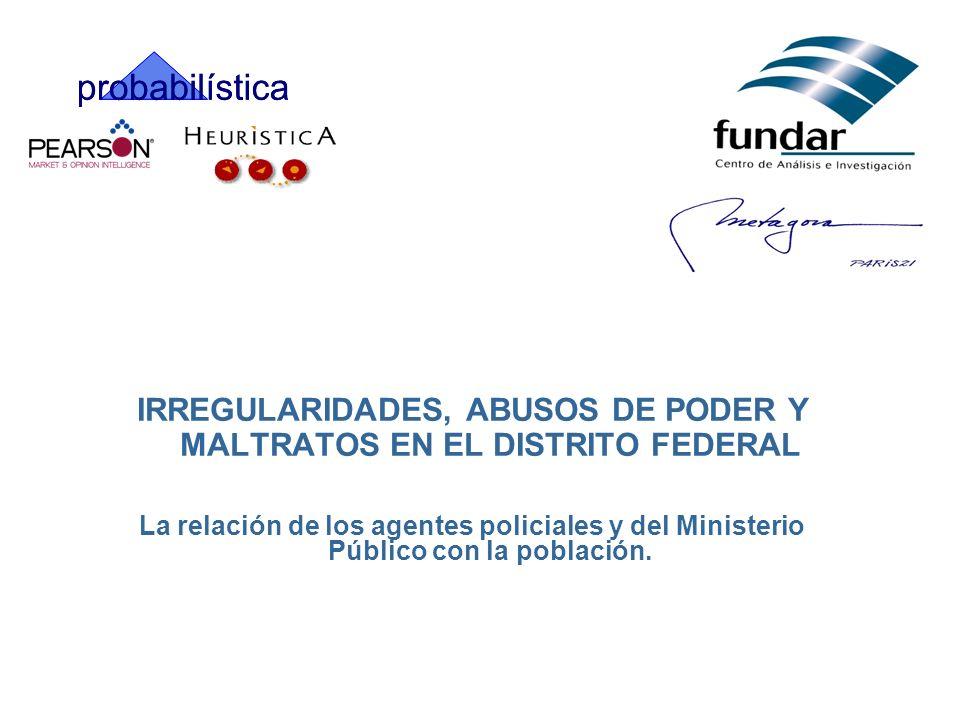IRREGULARIDADES, ABUSOS DE PODER Y MALTRATOS EN EL DISTRITO FEDERAL