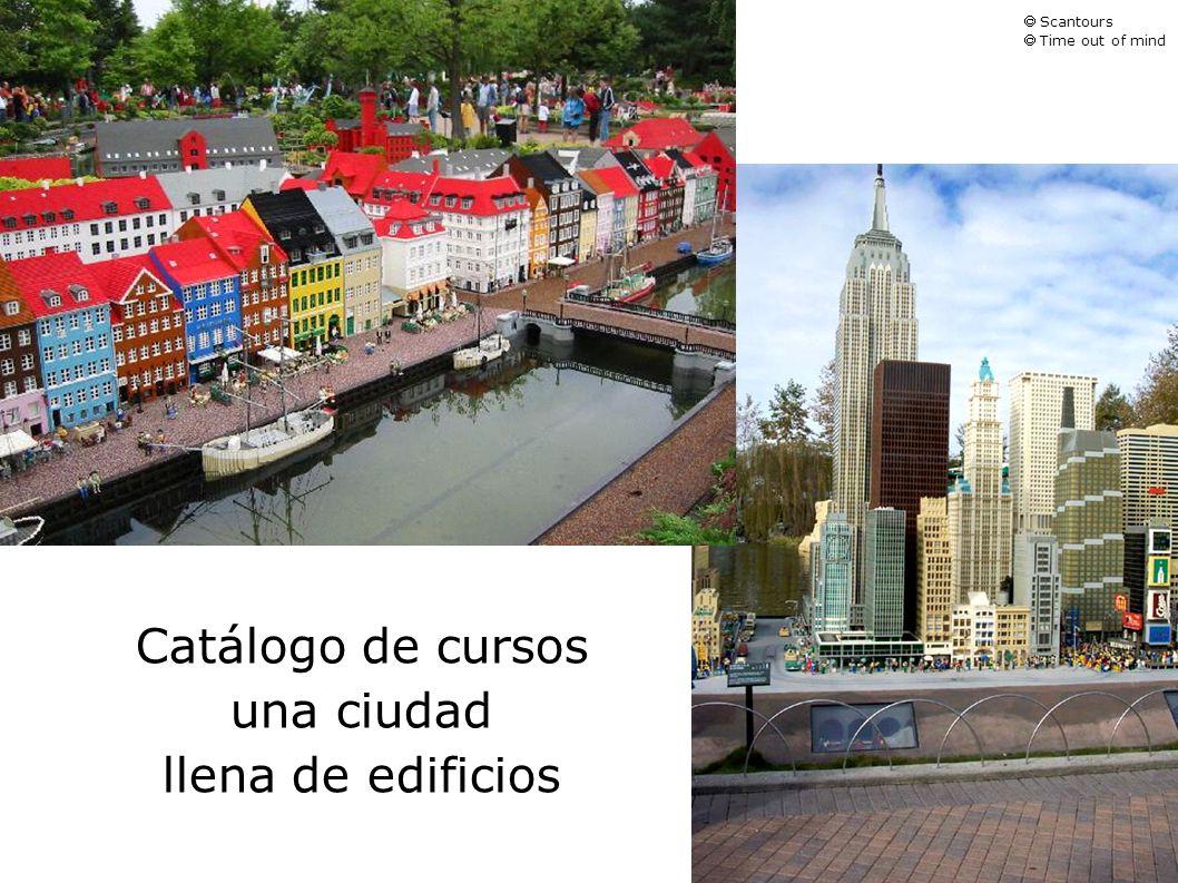 Catálogo de cursos una ciudad llena de edificios  Scantours