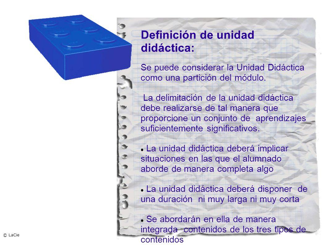 Definición de unidad didáctica: