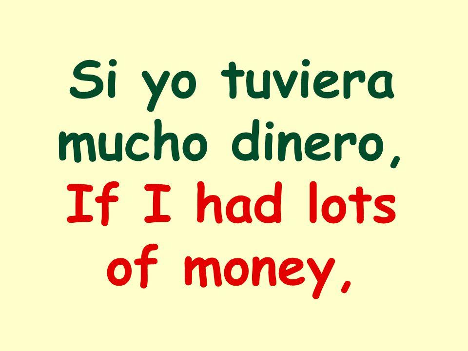 Si yo tuviera mucho dinero, If I had lots of money,