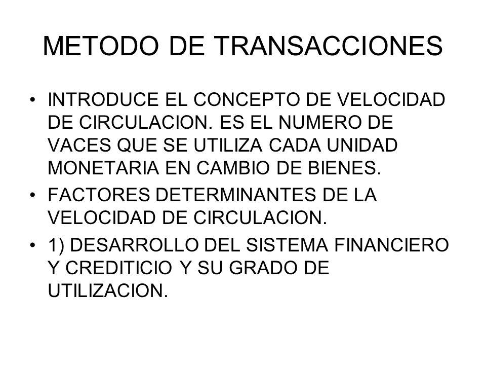 METODO DE TRANSACCIONES