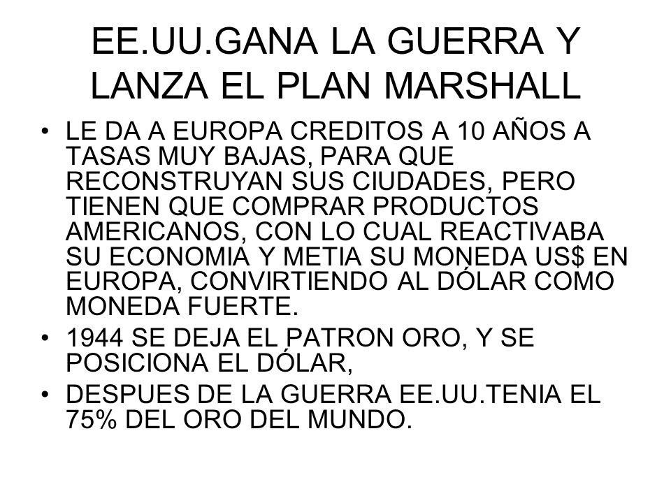 EE.UU.GANA LA GUERRA Y LANZA EL PLAN MARSHALL