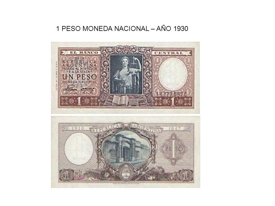 1 PESO MONEDA NACIONAL – AÑO 1930