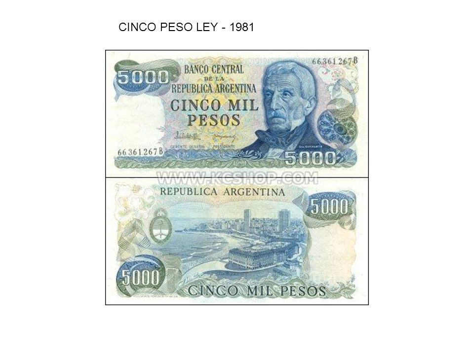 CINCO PESO LEY - 1981