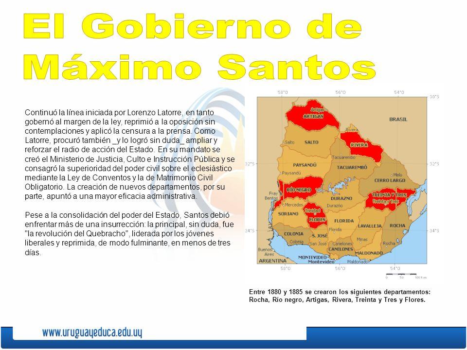 El Gobierno de Máximo Santos