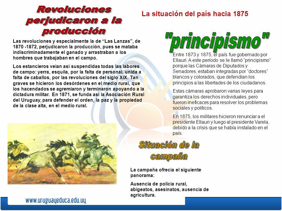 Revoluciones perjudicaron a la producción principismo