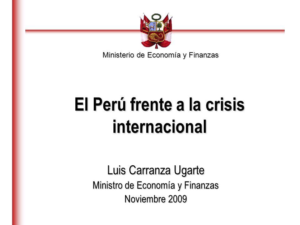 El Perú frente a la crisis internacional