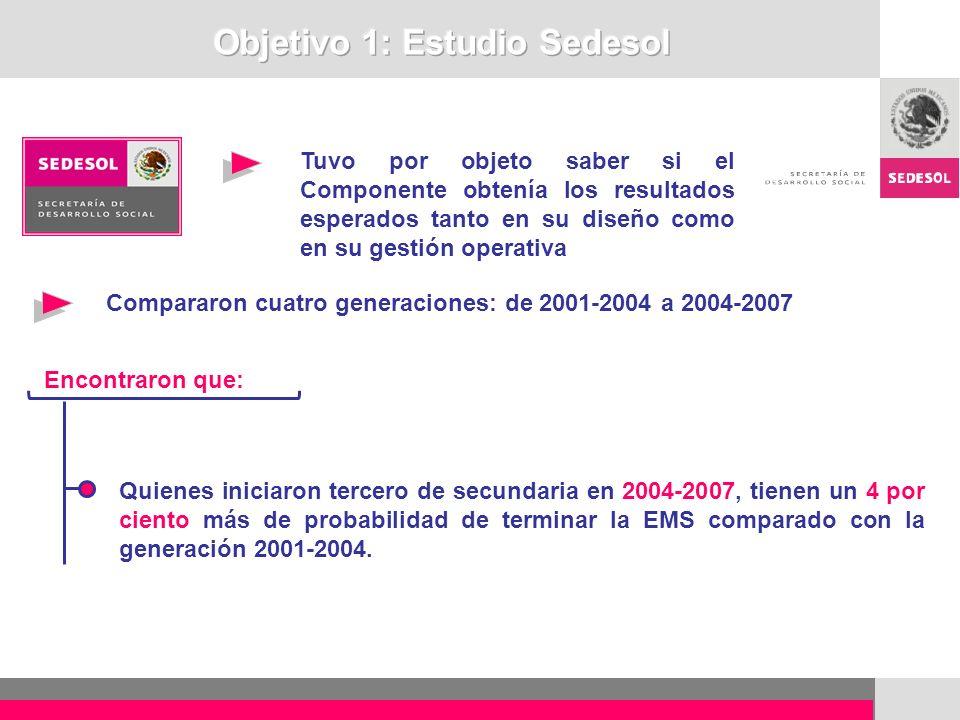 Objetivo 1: Estudio Sedesol