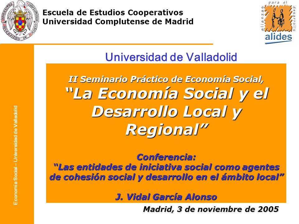 La Economía Social y el Desarrollo Local y Regional