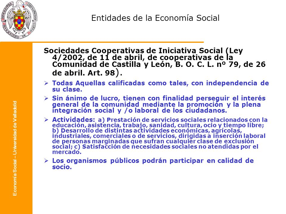 Entidades de la Economía Social