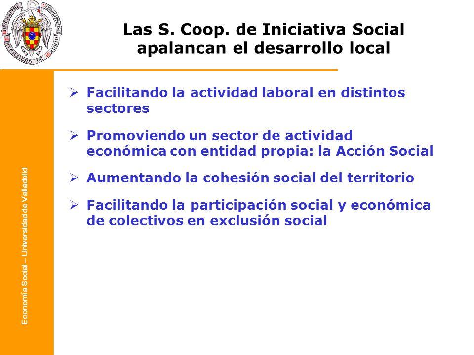 Las S. Coop. de Iniciativa Social apalancan el desarrollo local