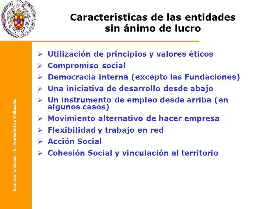 Características de las entidades sin ánimo de lucro
