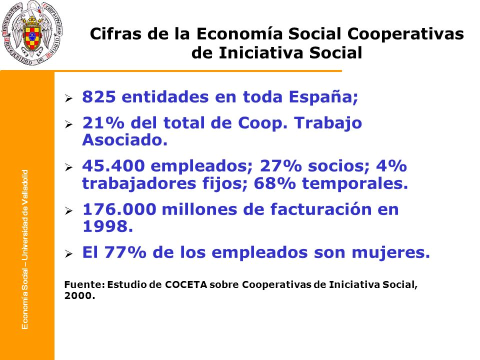 Cifras de la Economía Social Cooperativas de Iniciativa Social