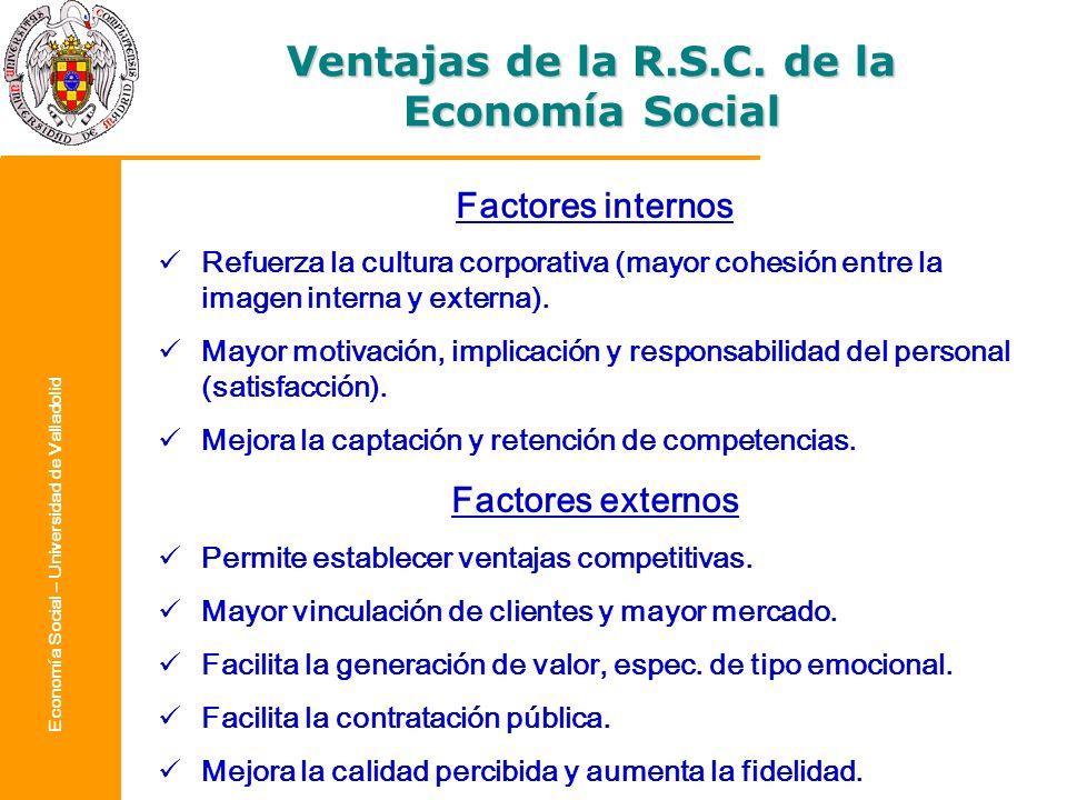 Ventajas de la R.S.C. de la Economía Social