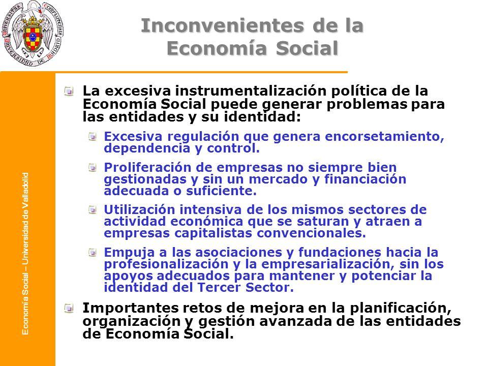 Inconvenientes de la Economía Social
