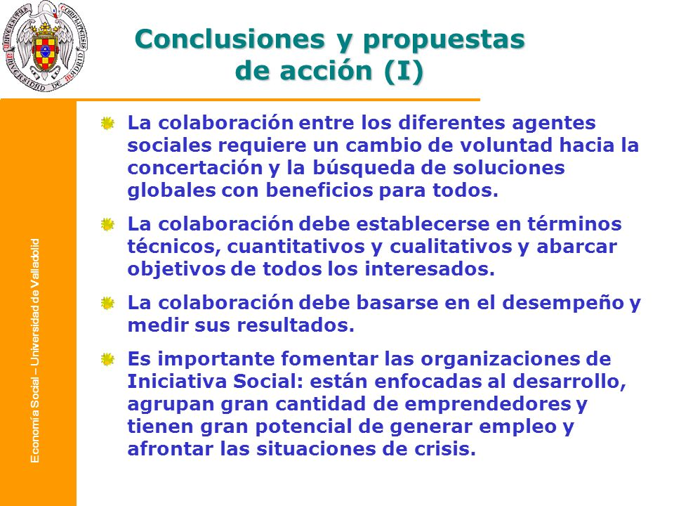 Conclusiones y propuestas de acción (I)