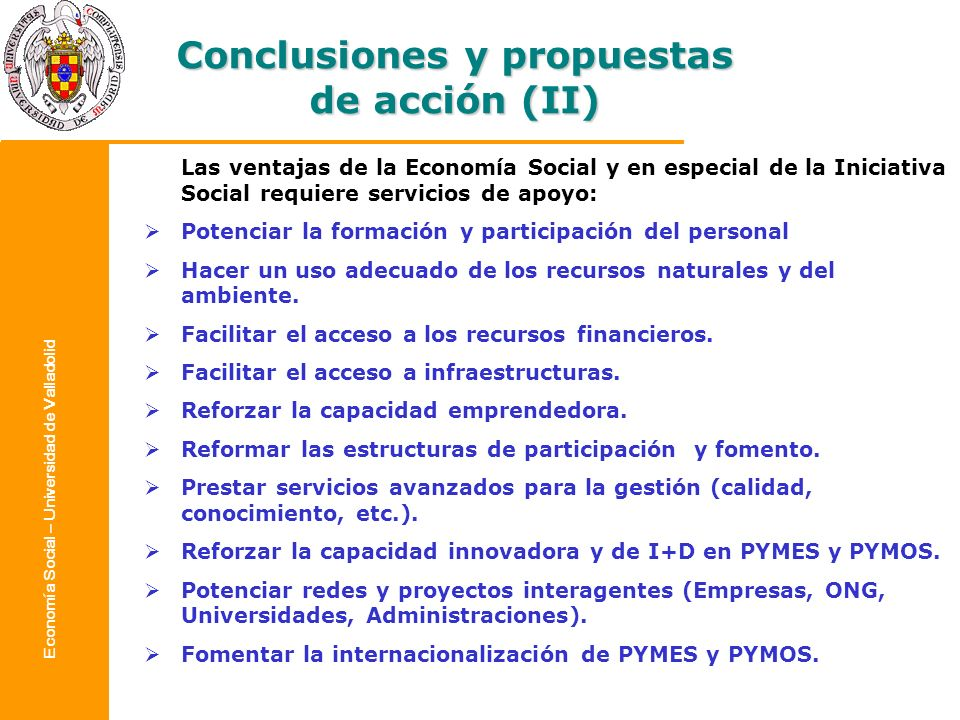 Conclusiones y propuestas de acción (II)