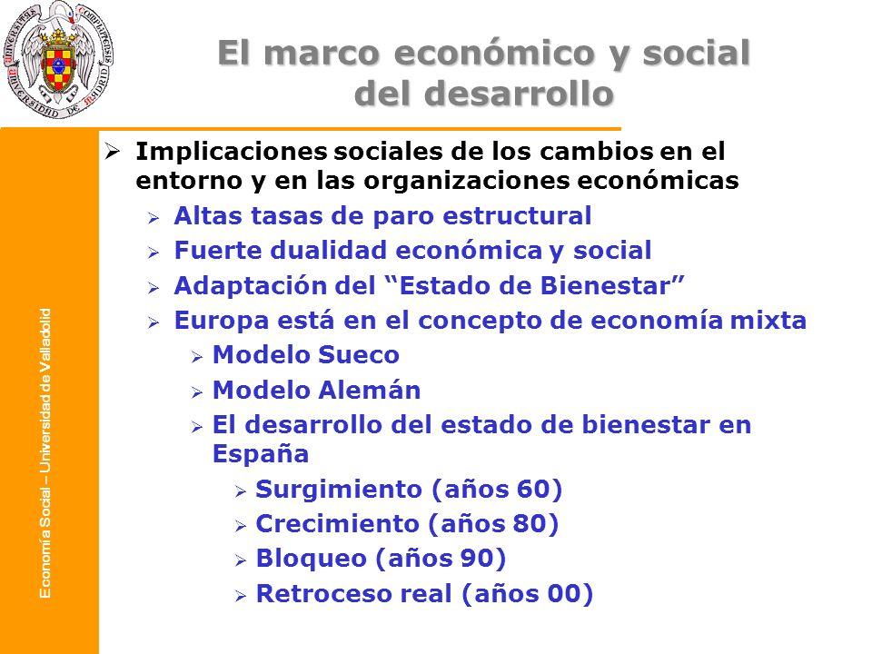 El marco económico y social del desarrollo