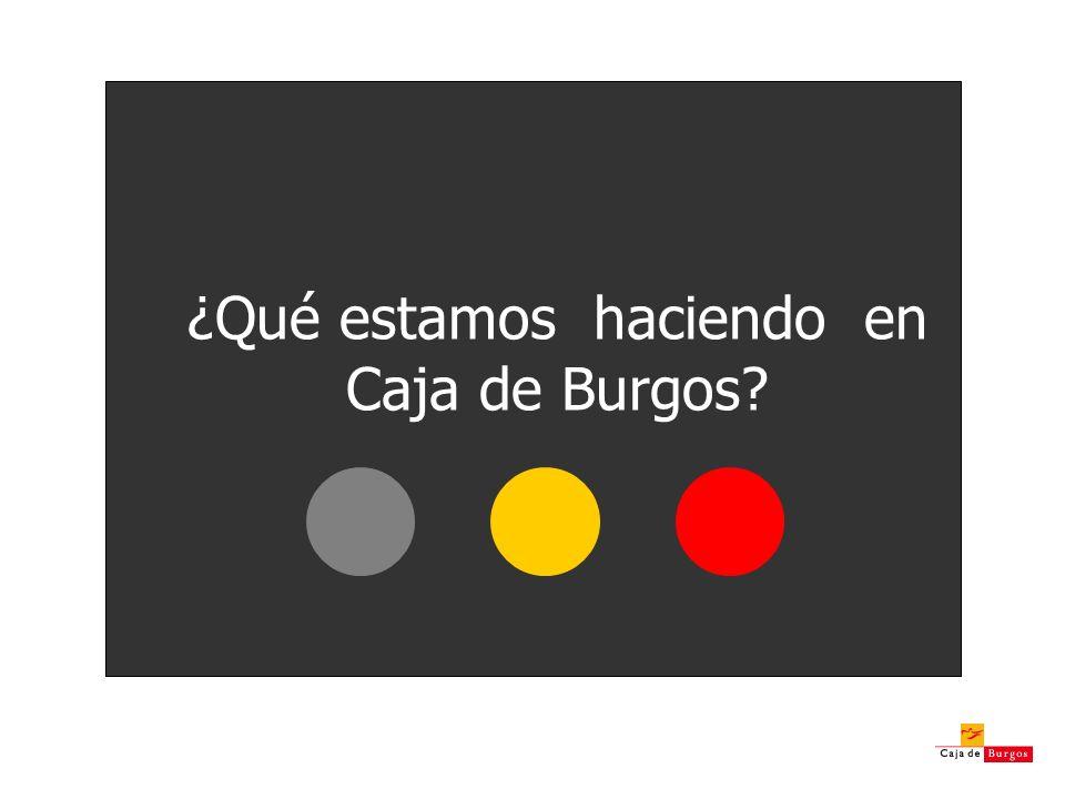 ¿Qué estamos haciendo en Caja de Burgos