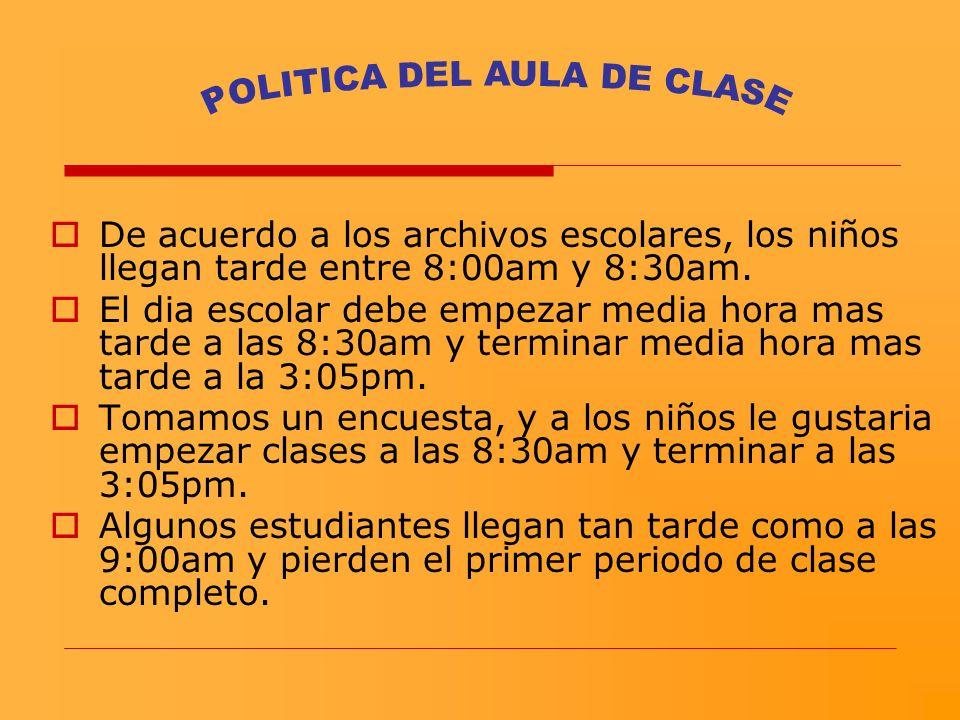 POLITICA DEL AULA DE CLASE