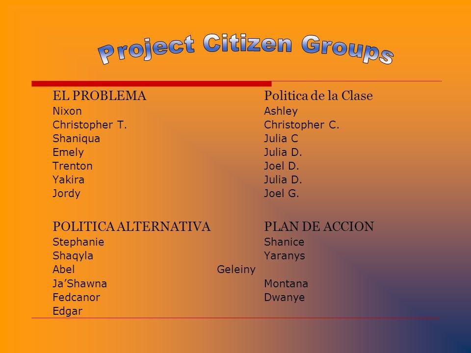 Project Citizen Groups