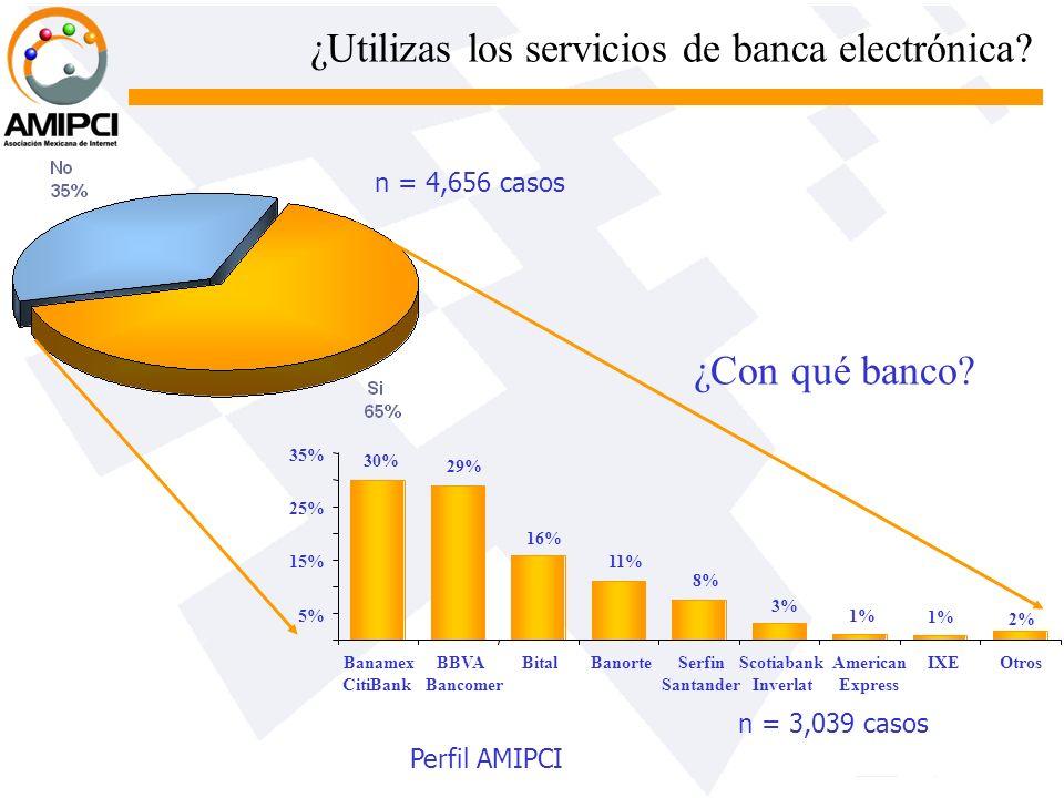 ¿Utilizas los servicios de banca electrónica