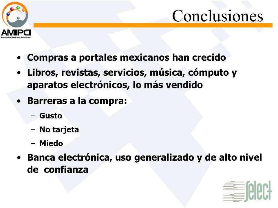 Conclusiones Compras a portales mexicanos han crecido