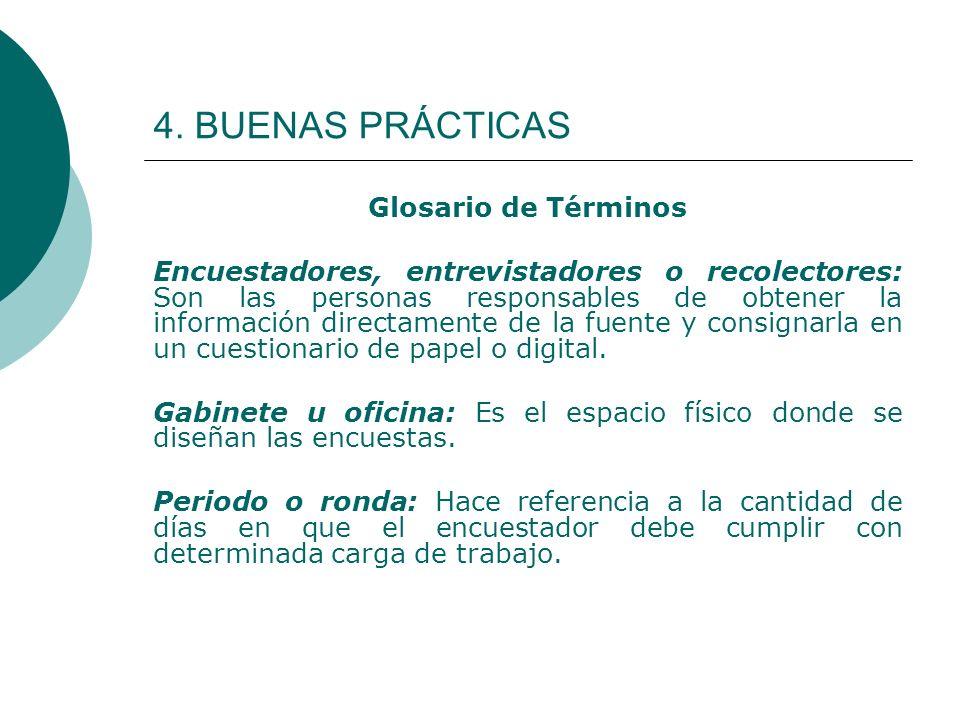 4. BUENAS PRÁCTICAS Glosario de Términos