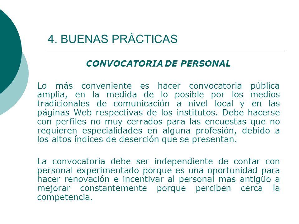 CONVOCATORIA DE PERSONAL