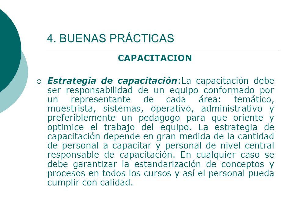 4. BUENAS PRÁCTICAS CAPACITACION