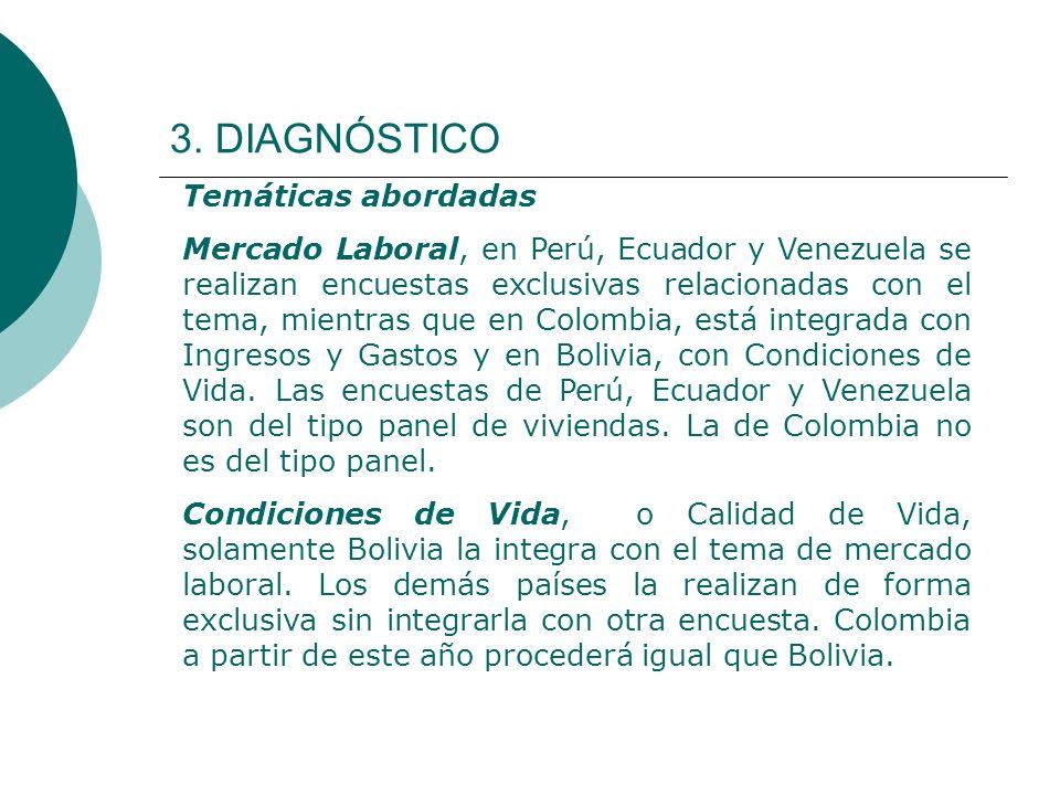 3. DIAGNÓSTICO Temáticas abordadas