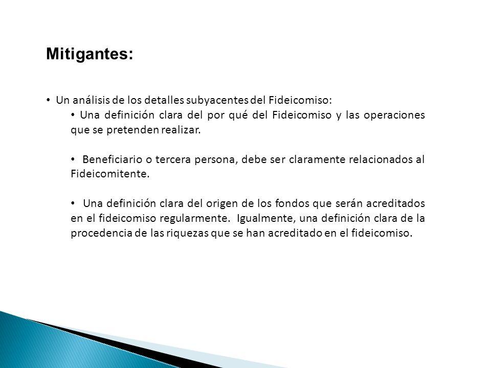 Mitigantes: Un análisis de los detalles subyacentes del Fideicomiso: