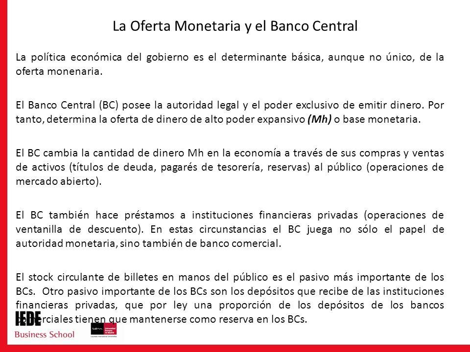 La Oferta Monetaria y el Banco Central