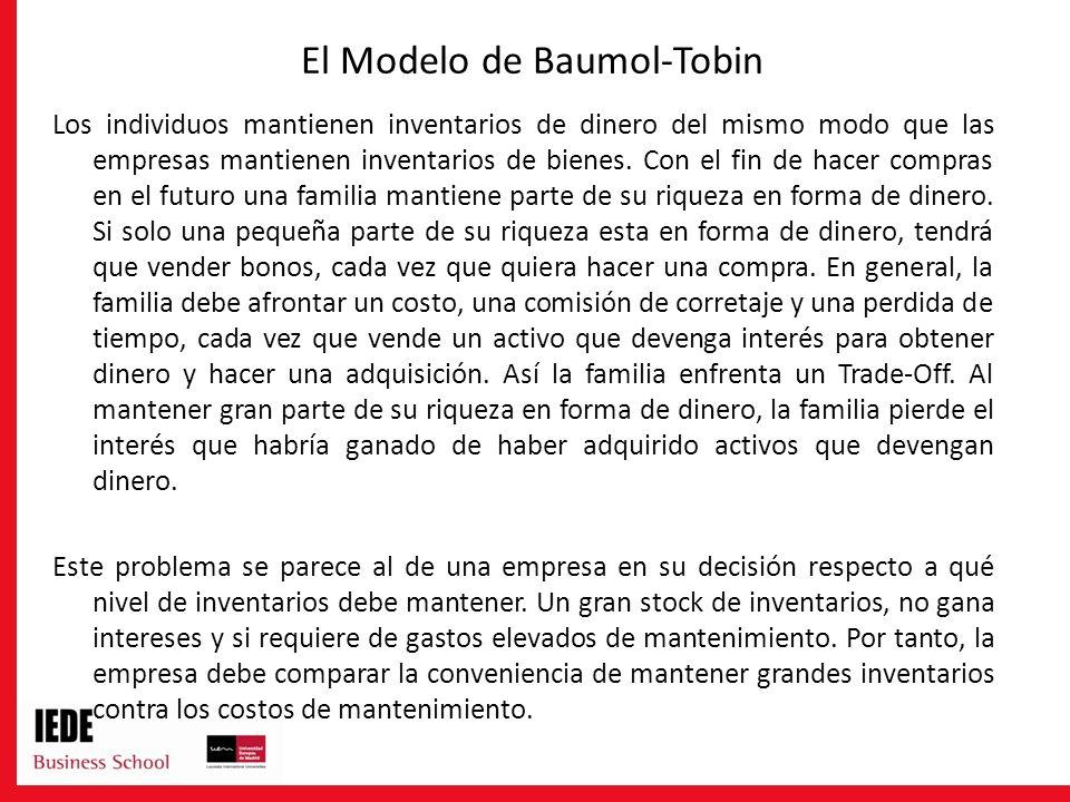 El Modelo de Baumol-Tobin