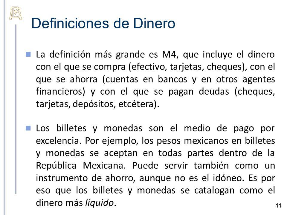 Definiciones de Dinero