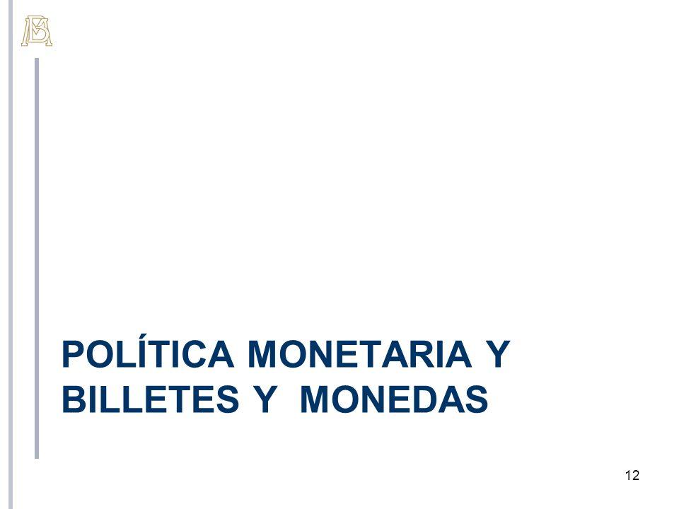 Política monetaria y billetes y monedas