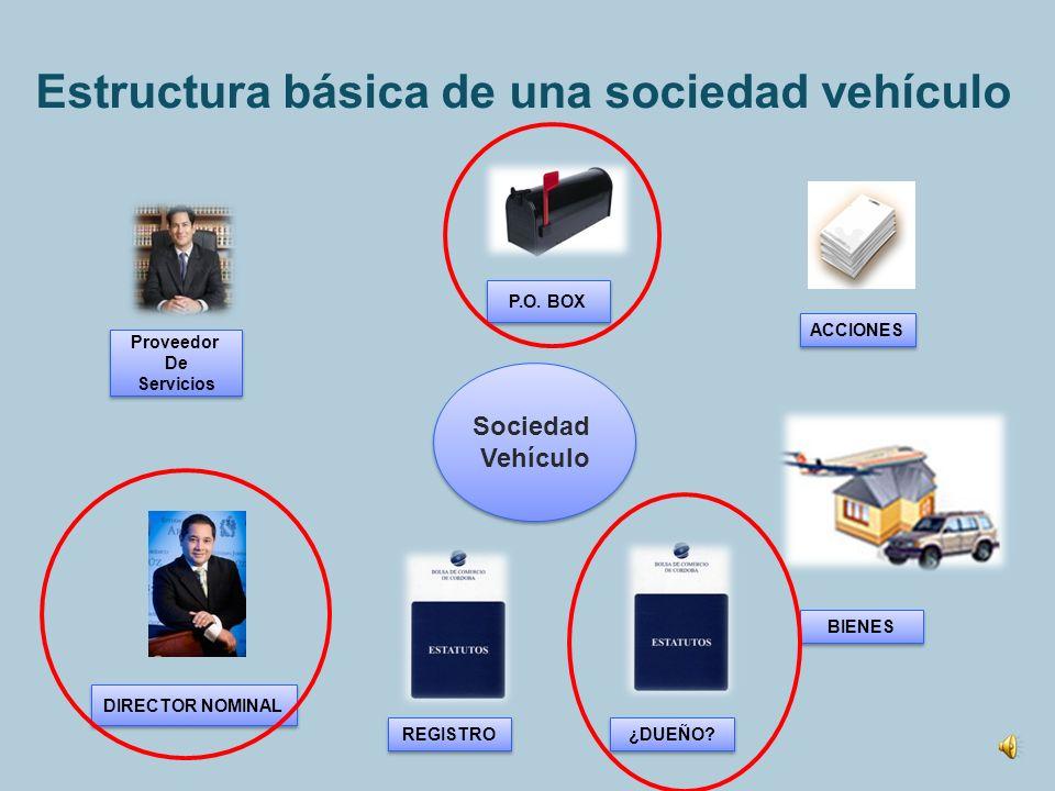 Estructura básica de una sociedad vehículo