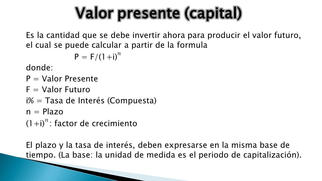 Valor presente (capital)