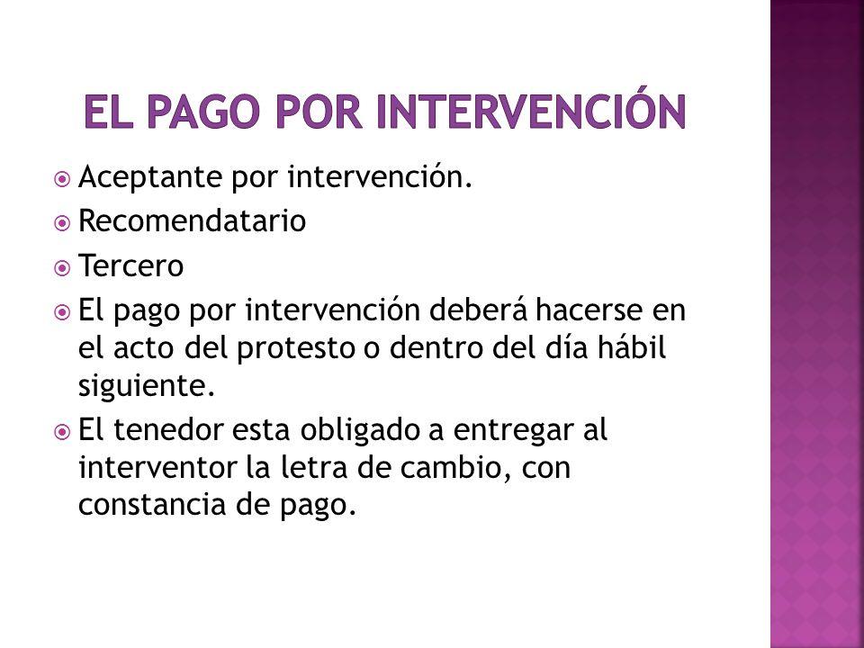 El pago por intervención