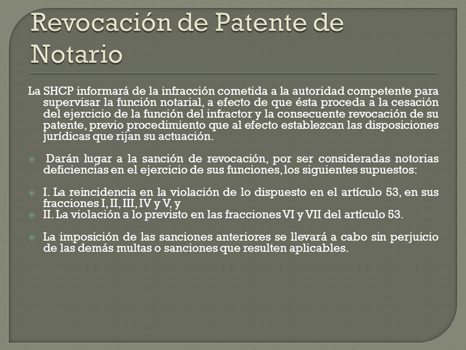Revocación de Patente de Notario