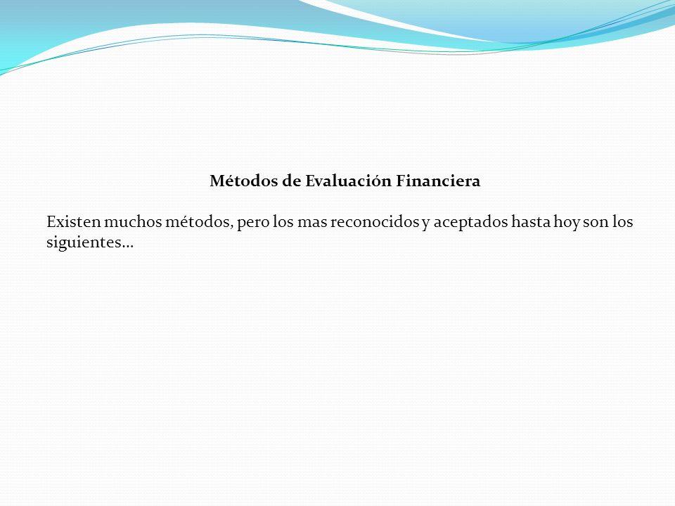 Métodos de Evaluación Financiera